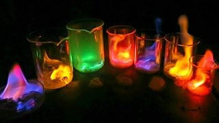How to Make Rainbow Flame - Science Experiments