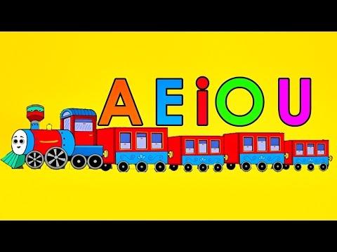 El Tren De Las Vocales Canción Infantil a e i o u Videos Educativos Para Niños Pre escolar