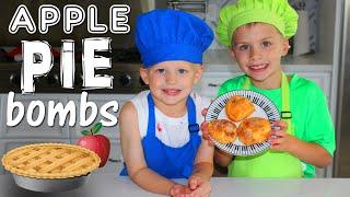 Caramel Apple Pie Bombs || Kid Size Cooking
