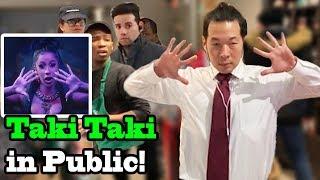 """""""TAKI TAKI"""" Dance in PUBLIC!!  - Ozuna Cardi B Selena Gomez DJ Snake"""