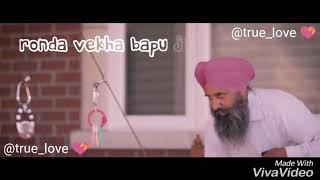 Munda badnam ho gaya/Mankirt Aulakh Punjabi_Song_What's_App_Video_by_@true_love 💝