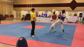Taekwondo Sukipt 2018- Yeoh Min Jun vs Muhd Amyrul
