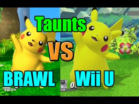 watch Taunt Comparisons in Super Smash Bros Wii U and Brawl (Graphic, Voice, Taunt Changes)
