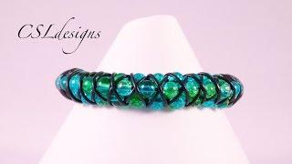 3D Triple Row Goddess Macrame Bracelet