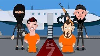 Cristiano Ronaldo, Zlatan Ibrahimovic & Gareth Bale fighting ISIS in Paris - Euro 2016
