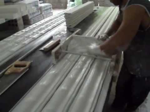 Como fabricar moldura de gesso