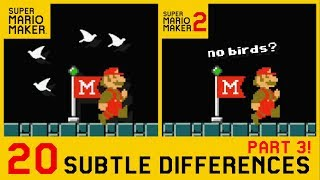 20 Other Subtle Differences between Super Mario Maker 2 and SMM1 (3/3)