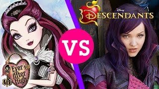 Disney's Descendants vs. Ever After High | A Once Upon a Time Battle!