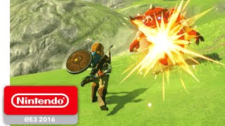The Legend of Zelda: Breath of the Wild - Exploration Gameplay - Nintendo E3 2016