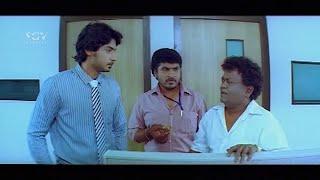 Heroine throw Prajwal Sweets in Office | Kuri Prathap | Prajwal Devraj | Kannada Comedy Scenes