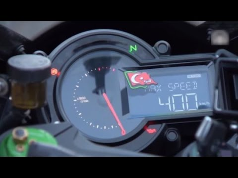 KAWASAKI H2R MAXIMA VELOCIDAD RECORD 0-400km/h 26 segundos HD Top Speed