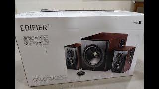 India Edifier S350DB 2.1 Bookshelf Speaker and Subwoofer || Unboxing ||
