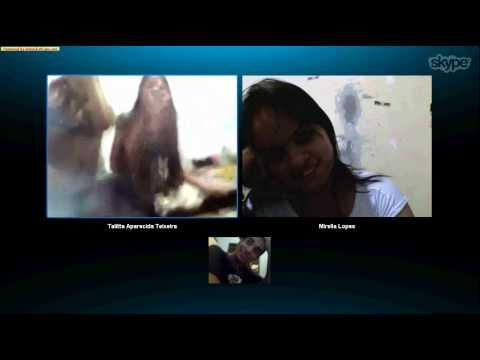 Meninas no Skype