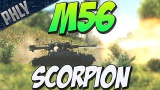 NO ARMOUR NO PROBLEM - M56 Scorpion TANK (War Thunder Tank Gameplay)