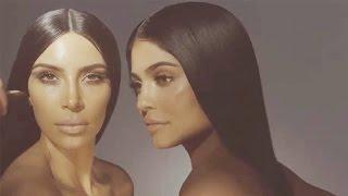 Kylie Jenner & Kim Kardashian Go Topless & TEASE Makeup Collab