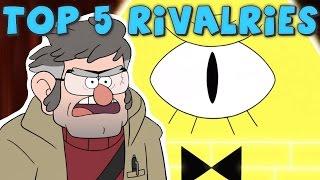 Top 5 Cartoon RIVALRIES & ENEMIES!