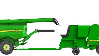 Hillco Single Pass Round Bale System for John Deere Combines and Balers