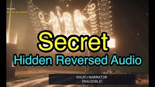 Assassin's Creed Origins: Hidden Reversed Audio Message at Khufu Pyramid