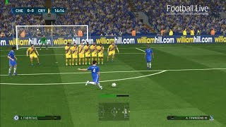 PES 2017 | Chelsea vs Crystal Palace | Full Match & Fabregas Free Kick Goal | Gameplay PC