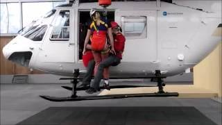 Helicopter rescue training in Bad Tölz