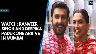Watch: Ranveer Singh and Deepika Padukone arrive in Mumbai
