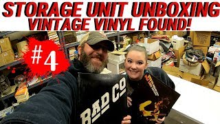 I Bought A Vintage Storage Unit Auction | Look What I Found | Classic Rock Vintage Vinyl Records