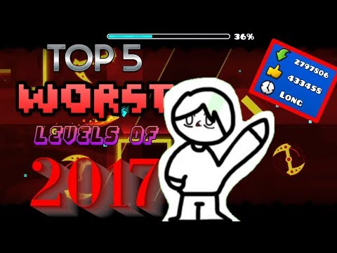 Xxx Mp4 Top 5 WORST Levels Of 2017 Geometry Dash 3gp Sex