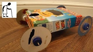 Cereal Box Rubber Band Powered Car