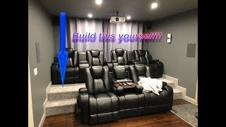 DIY HOME THEATER RISER | Build your own Movie Room Seating Platform Cheap and Easy!