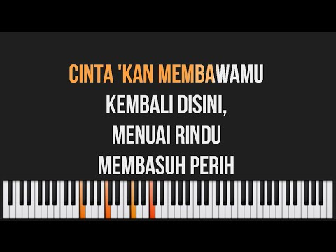 Dewa 19 - Cintakan Membawamu Kembali Piano Karaoke Lyrics