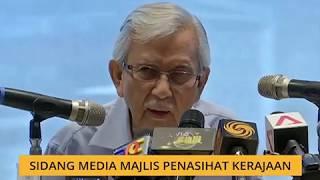 Sidang media Majlis Penasihat Kerajaan