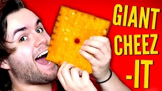 DIY GIANT CHEEZ-IT | How To Make BIGGEST Cheese It Crackers EVER!