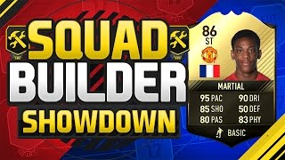 FIFA 17 SQUAD BUILDER SHOWDOWN!!! INFORM STRIKER MARTIAL!!! The Sweatiest Card On Fifa 17