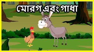 মোরগ এবং গাধা   Panchatantra Moral Stories for Kids   Bangla Cartoon