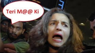 Alia Bhatt Angry on Media - Sanjay Dutt requested Media to Leave - Latest Bollywood B Town News