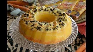 Gelatina de zanahoria con piña