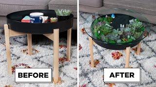 DIY Succulent Coffee Table