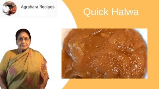 Quick Halwa