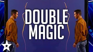 Magicians Les French Twins DOUBLE-UP on America