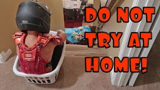 KID IN LAUNDRY BASKET VS STAIRS!