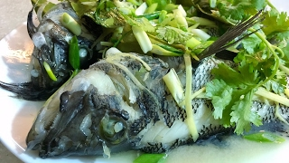 Steamed Sea Bass Chinese recipe. রেস্টুরেন্টের মত করে যে কোন মাছ এ ভাবে স্টিম করা যায়।
