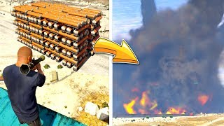 The BIGGEST Explosion in ZERO Gravity? (GTA 5 Mods)