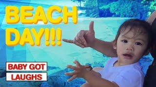 Funny Baby Beach Day | YOU WILL LAUGH HILARIOUS COMPILATION 2018