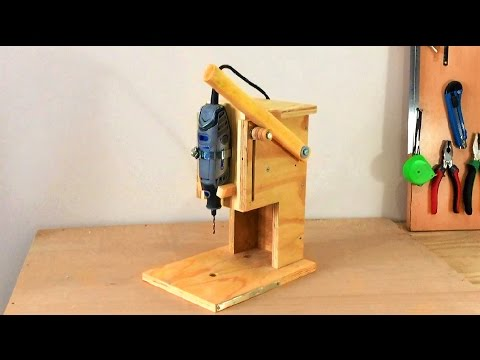 Making a Mini Drill Press Router Table Spindle Sander All in One Çok Fonksiyonlu Dremel Tezgahı