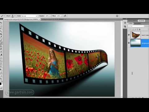 How to make a 3D film strip in Photoshop Week 69