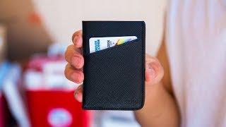 Stylish Minimalist Wallet! - SZNS Black Saffiano Leather Wallet Review