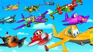Ten Little Aeroplanes | Counting Song | Nursery Rhymes | Kids Songs