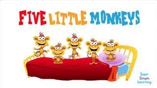 Five Little Monkeys   Super Simple Songs