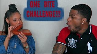 ONE BITE CHALLENGE (HARDEST CHALLENGE EVER)