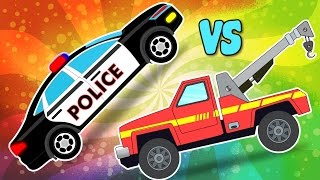 TowTruck Vs Police Car